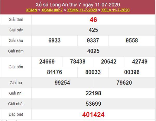 Dự đoán XSLA 18/7/2020 chốt KQXS Long An cực chuẩn xác