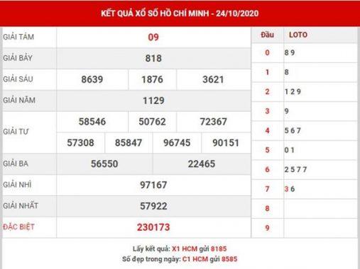 Dự đoán kết quả SX Hồ Chí Minh thứ 2 ngày 26-10-2020