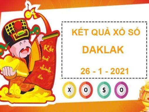 Dự đoán XS Daklak thứ 3 ngày 26/1/2021