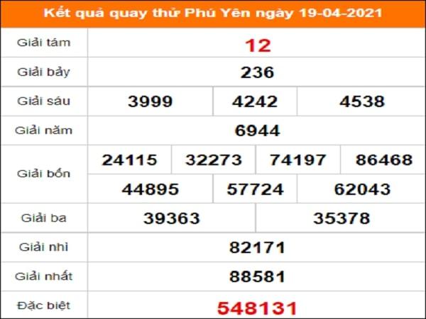 Quay thử Phú Yên ngày 19/4/2021 thứ 2