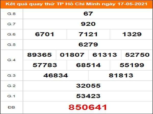Quay thử XS Hồ Chí Minh ngày 17/5/2021 thứ 2