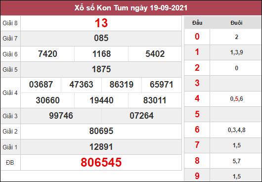Dự đoán KQXSKT ngày 26/9/2021 dựa trên kết quả kì trước